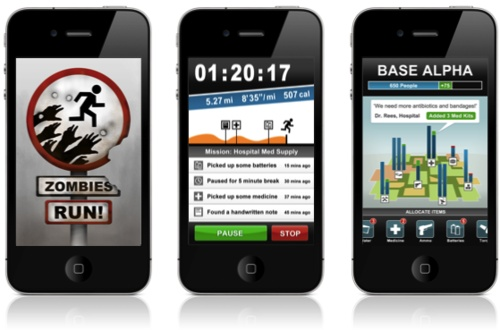 Zombie Running App - for my Zombie loving co-workers.