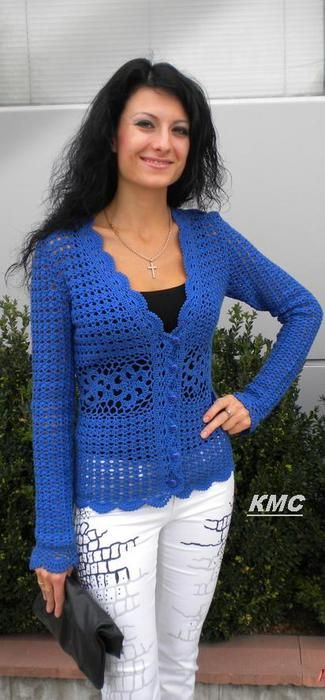 Blue Jacket - I love this colour! With all the charts