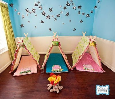 """Camp Out Under the """"Stars""""! -- Love the A-Frame Tents!!!"""
