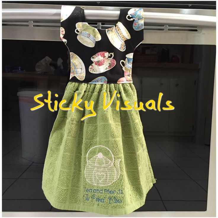 oven door kitchen towel decorative embroidered tea and friends design new gift - Kitchen Towels New Design
