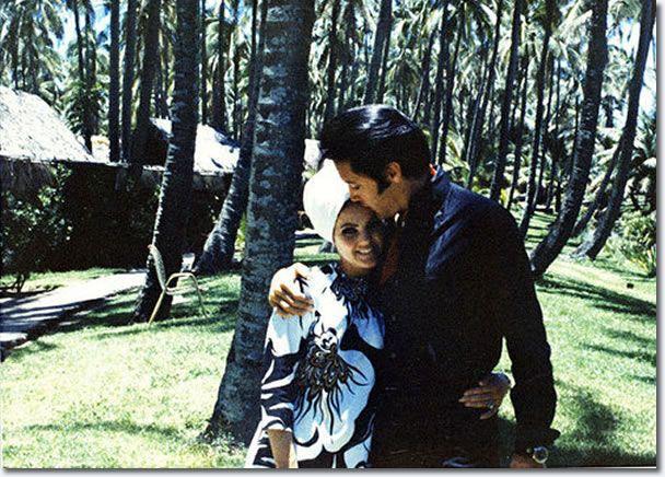 Elvis and Priscilla Presley on holiday, Hawaii, May 1968