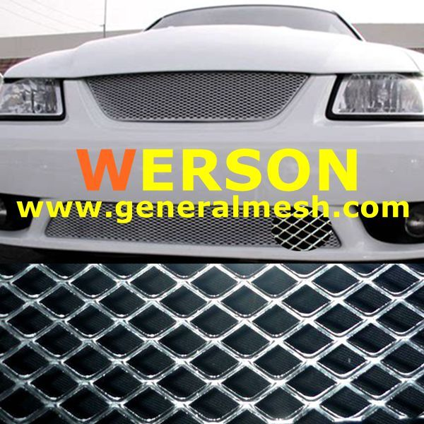 Car Mesh Grill Grille Cover Universal Aluminum Alloy Honeycomb Hole Mesh Grill Sheet Section Car Vehicle Body Grille Net Black Front Radiator Grille Grill Black