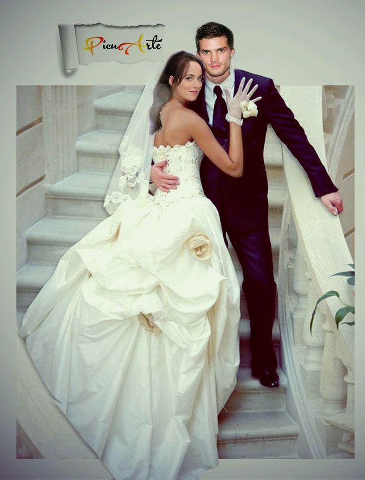 Grey Anastasia Steele Wedding Jamie Dornan Dakota Johnson