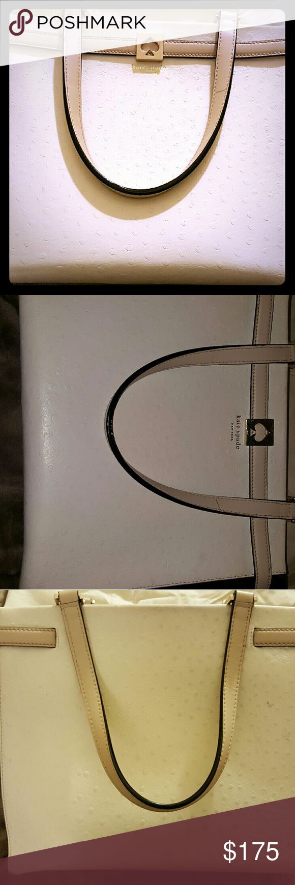 Kate Spate  handbag Black and white with nude straps. Beautiful bag, used slighty as seen in pictures kate spade Bags Satchels