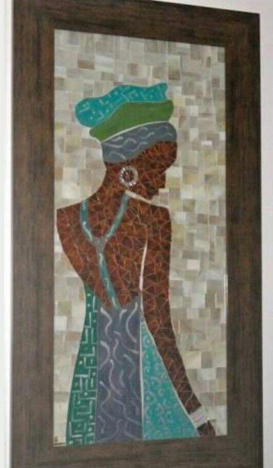 Mosaico mulher negra