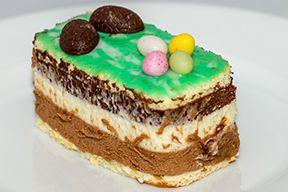 Mille feuille de Pâques aux trois chocolats avec EmpilOdéco rectangulaire