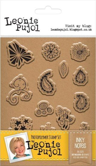 Leonie Pujol A6 Clear stamp set - Inky Notes