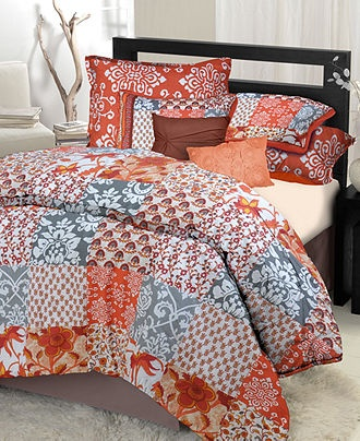 Moroccon comforter set orange blue for the home pinterest - Orange and blue comforter ...