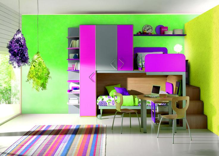 Fluorescent bedroom