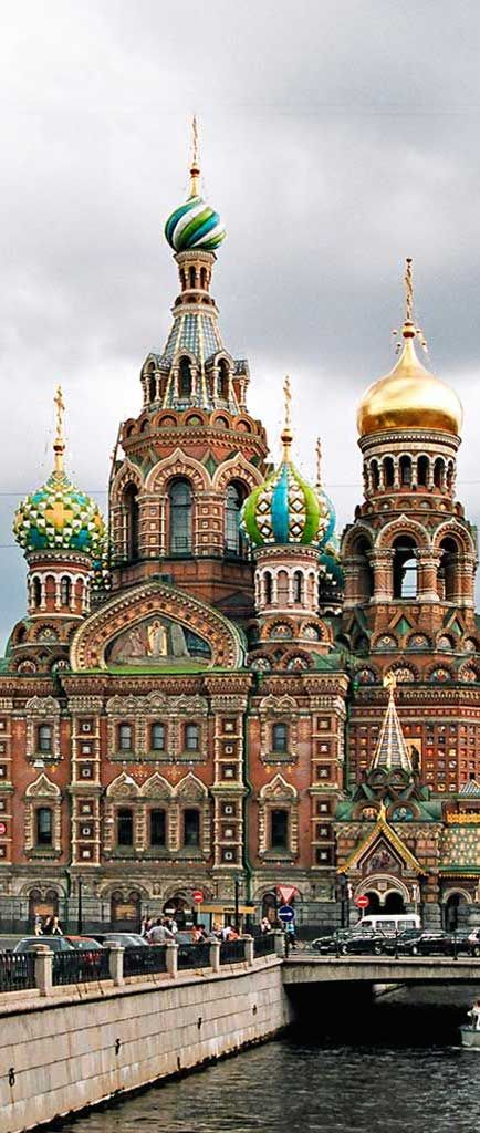 The Church of Spilled Blood in St. Petersburg, Russia