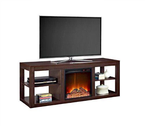 Electric Fireplace Wooden TV Stand Heater Media Center Home Furniture LED Light  #SmartDealsMarket