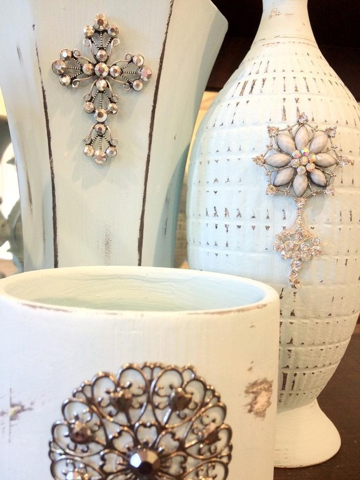 Vase Jewelry~ Chalk Paint