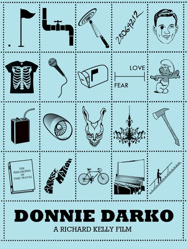 Donnie Darko [Richard Kelly, 2001] «10 Beautiful Alternative Disney Movie posters Author: Rowan Stocks-Moore»