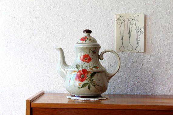 Kaffee Tee Kanne Mohnblumen Winterling Marktleuthen Bavaria