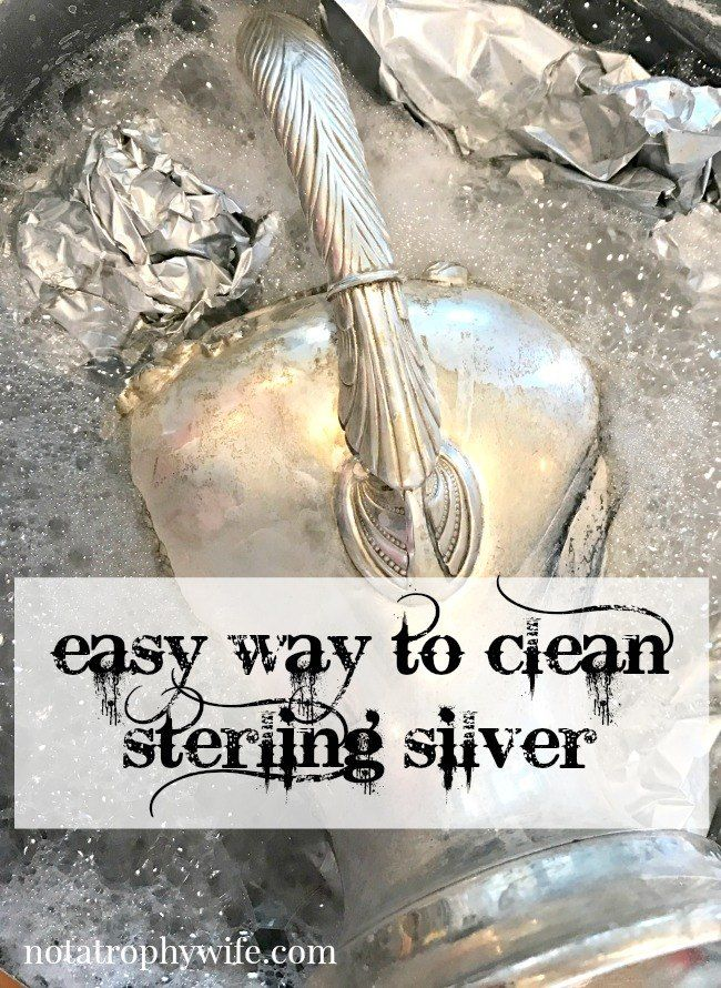 Here is an easy way to clean sterling silver with a large pot of hot simmering water and baking soda!  Full tutorial, credits and additional resources are in li…