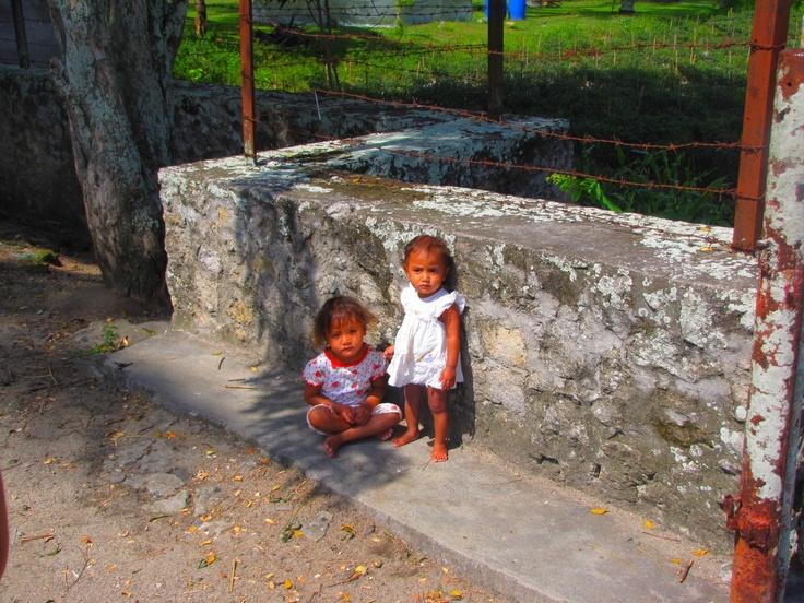 Little children on Samosir island