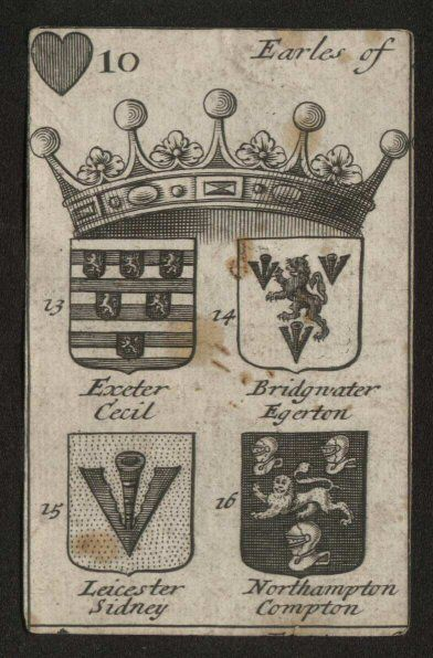 C1688 2nd edition - The Arms of English Peers Playing Cards.