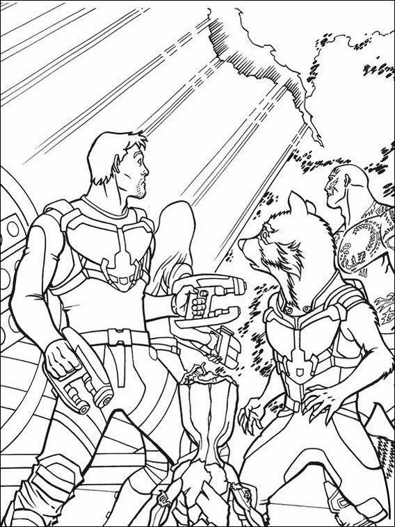 Dibujos para Colorear Guardianes de la Galaxia 9 | Dibujos para ...