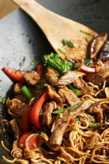 Beef and Shiitake Mushroom Stirfry recipe on www.nomu.co.za