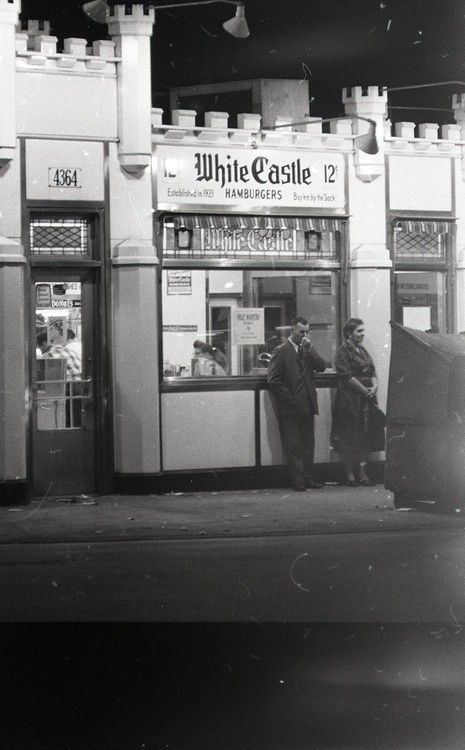 White Castle Hamburgers, 4364 S Archer, 1962, Chicago.  When this photo was taken, the location had been open for 33 years.