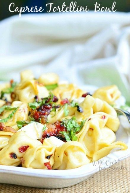 Caprese Tortellini Bowl | from willcookforsmiles.com #tortellini #caprese