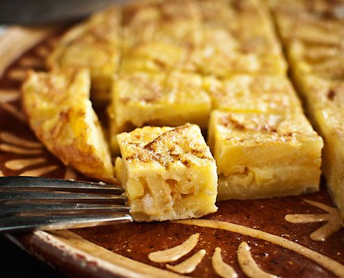 Spanish tortilla is maybe one of the most famous Spanish dishes, an omelette made with potato.