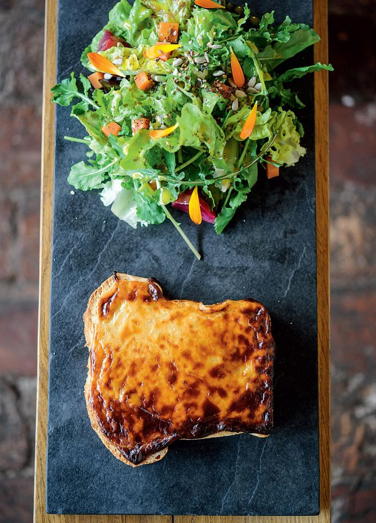 Caerphilly and Cider Welsh Rarebit - The Happy Foodie