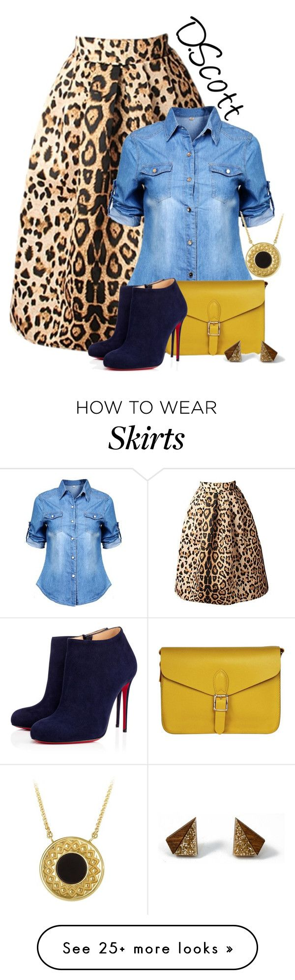 """Style Me: Skirt"" by dawn-scott on Polyvore featuring Angela & Roi, Christian Louboutin, Wolf & Moon and Carrera y Carrera"