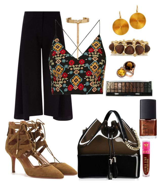 Café Gold by takenbycy on Polyvore featuring polyvore fashion style Topshop Victoria, Victoria Beckham Aquazzura Kartell Kenneth Jay Lane Eddie Borgo Jeffree Star Boohoo NARS Cosmetics clothing