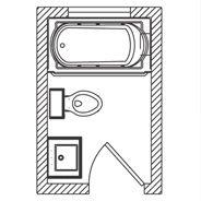 Looking for a bathroom floorplan? Kohler's got it. Floor Plan Options, Bathroom Ideas & Planning