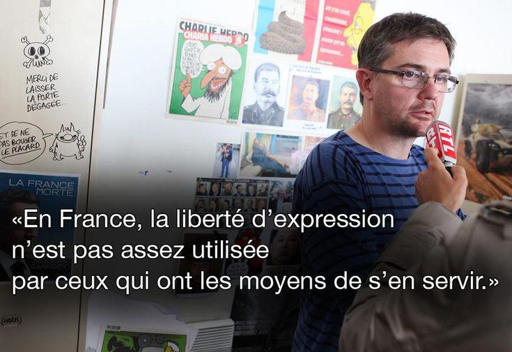 Citation de Charb, le 8 juin 2012 sur France 3. MAXPPP http://www.francetvinfo.fr/faits-divers/attaque-au-siege-de-charlie-hebdo/en-images-dix-citations-de-cabu-charb-wolinski-et-tignous-a-ne-pas-oublier_790973.html