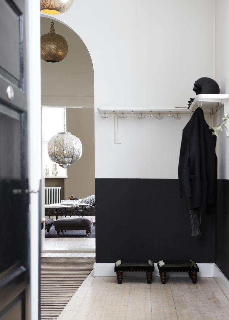 Half-black Walls & Corner of Hooks