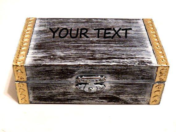 Caja del Anillo para Ceremonia Boda Joyeros y por Personalizedbox