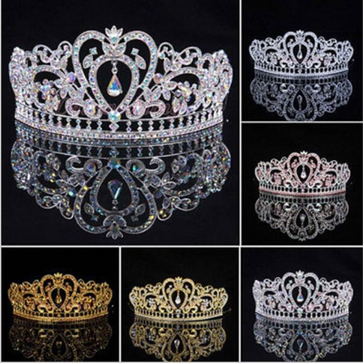 2016 New Arrival Luxuious AB Color Crystal Bridal Tiaras Fashion Princess Crown Silver Wedding Crowns Hair Accessories wholesale