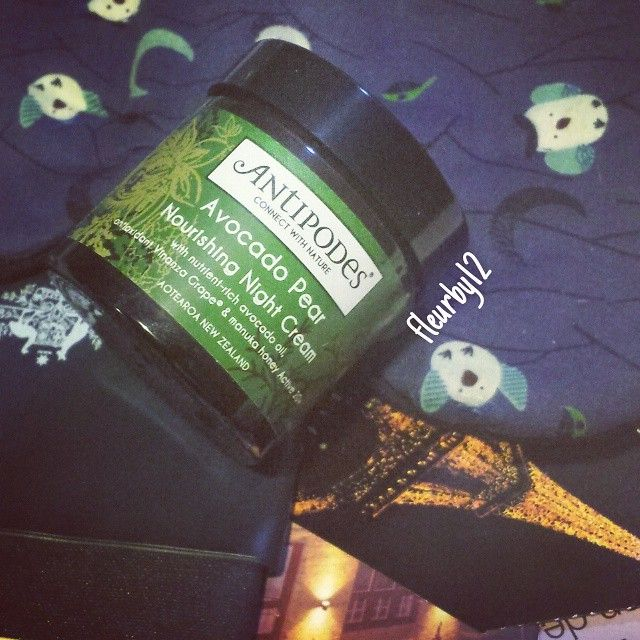 Fleurby - Loving the Antipodes Avocado Pear Nourishing Night Cream so soothing and an awesome drink for my skin on long flights. #LoveJubilation