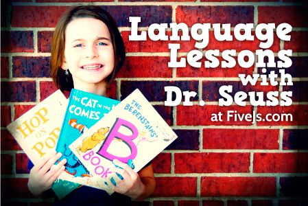 Dr. Seuss Homeschool Language Arts Lessons -- 19 books that can be used for different language concepts
