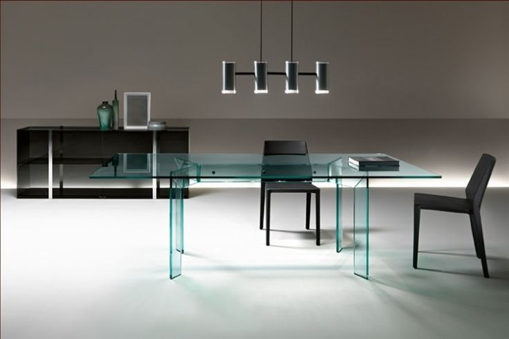 GlazenDesignTafel.nl | Glazen eettafel Cross | FIAM | Italian design | Glass table by Christophe Pillet | vidre glastoepassingen, Leiden