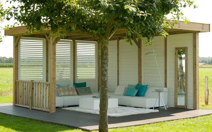 Living Modulair Excellent 500 als buitenkamer www.hillhout.nl