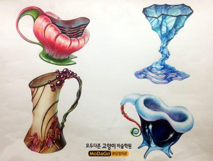 모두다른고양이미술학원 <정자동 본원직영관>입니다~^^국민대 디자인 합격생들의 평소작을 소개합니...