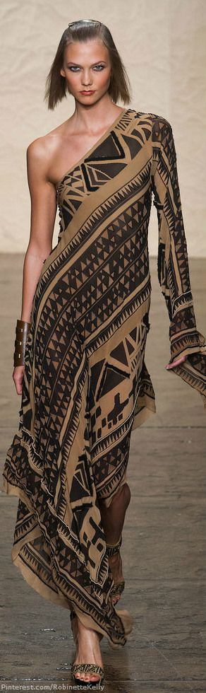 Donna Karan / S/S 2014 / African Style Prints / High Fashion / Ethnic & Oriental / Carpet & Kilim & Tiles & Prints & Embroidery Inspiration /