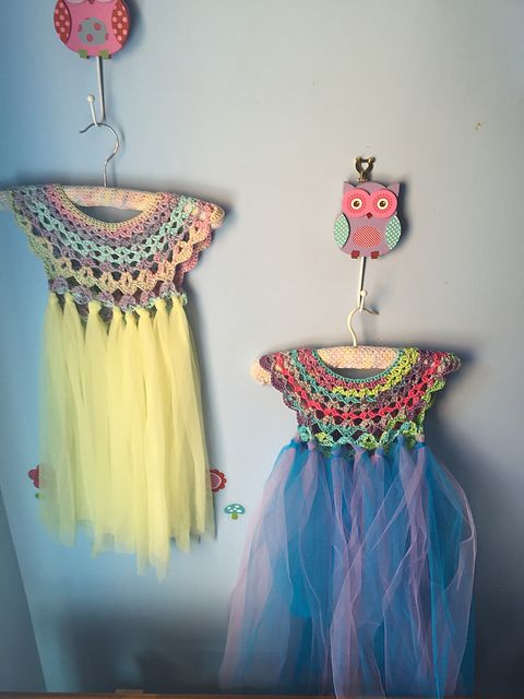 Ravelry: Fairy Dress ~~~ Something quick, fun, and I think the princesses would like it!  Just need a white slip underneath!