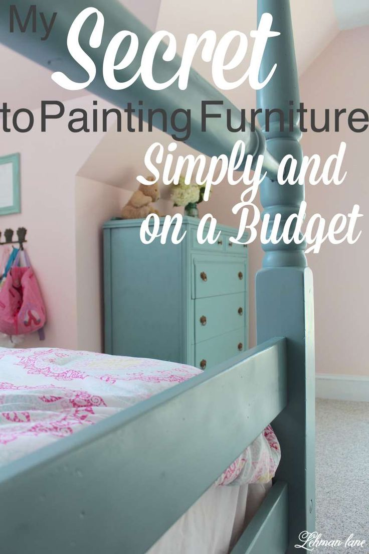 With so many people using chalk paint these days I am always surprised more people don't try other types of paint when repainting furniture! Stop by to see my favorite way to pint my old furniture without leaving any brush stokes and it can be done in an afternoon! #diy #paintedfurniture Http://lehmanane.net