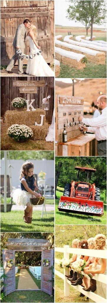 rustic country wedding ideas- barn, mason jar and burlap