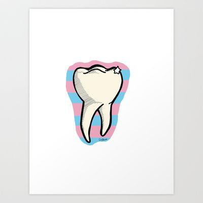 Tooth Art Print by Constance Mace - $16.48