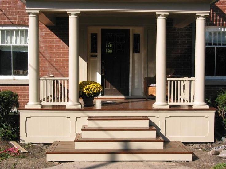 17 best ideas about porch stairs on pinterest veranda ideas back deck ideas and front porch steps. Black Bedroom Furniture Sets. Home Design Ideas