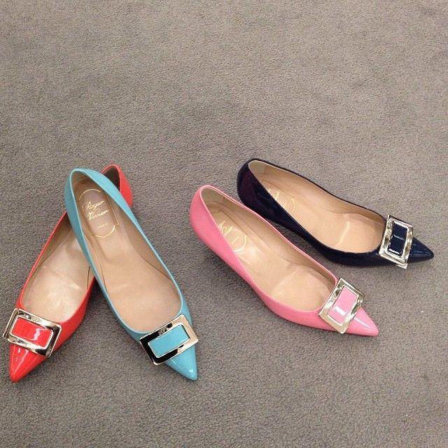 # Rogervivier # обуви # плоским # каблук # новый # цвет