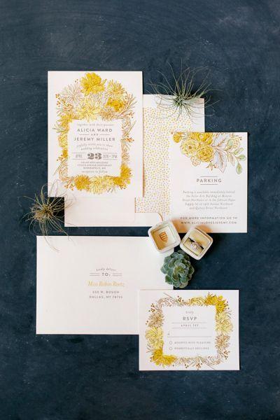 30 tipos de invitaciones de boda 2016. ¡Toma nota e invita con estilo! Image: 11
