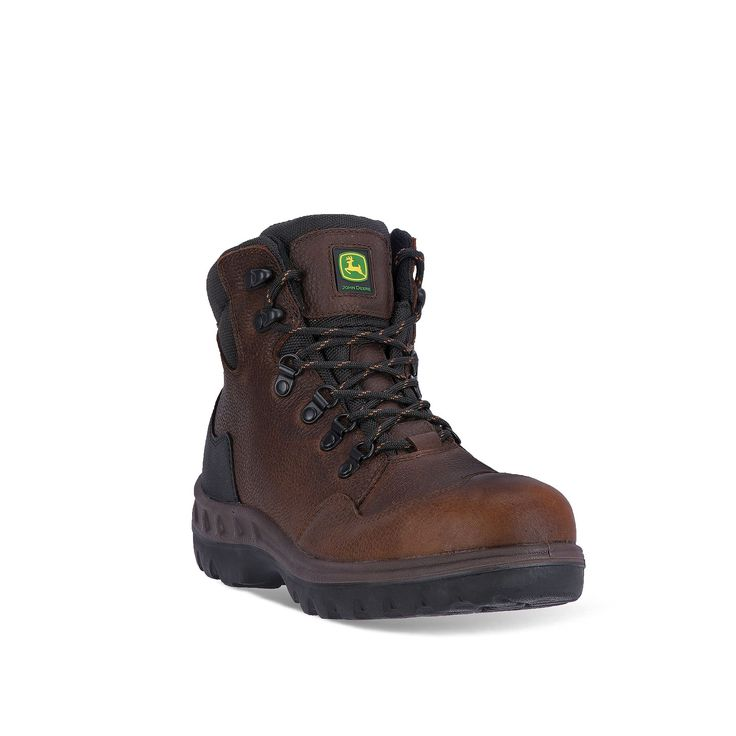 John Deere Men's Waterproof Steel-Toe Hiking Boots, Size: medium (7), Brown