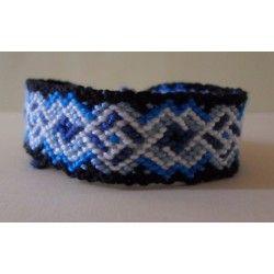 """Bracelet Brésilien """"losange superposé"""""""