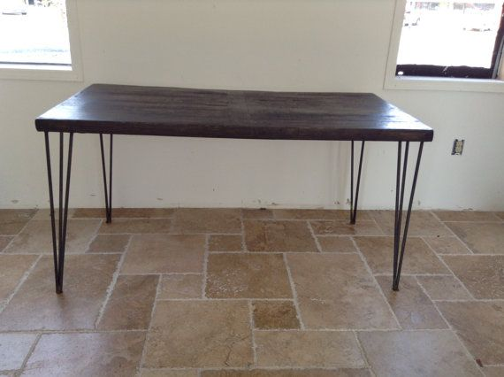 Farm Industrial Reclaim Dining Table, wood & metal, Country Western Furniture.